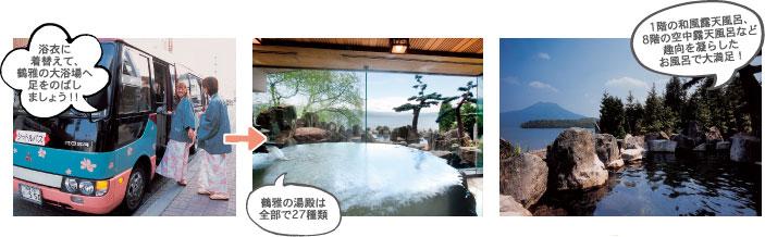 鶴雅ウィングスのお風呂は全部で27種類