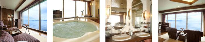 リビング・ジャグジー・洗面台・サロマ湖